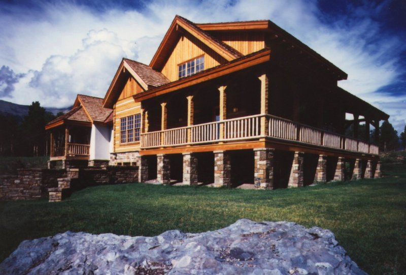 Love the wrap around porch awesome rooms pinterest for Full wrap around porch log homes