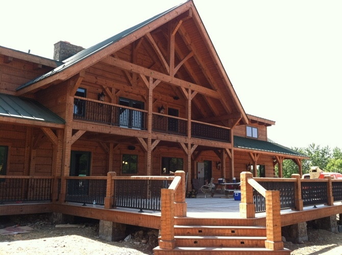 Luxury log homes and hand hewn homes for Luxury log home builders