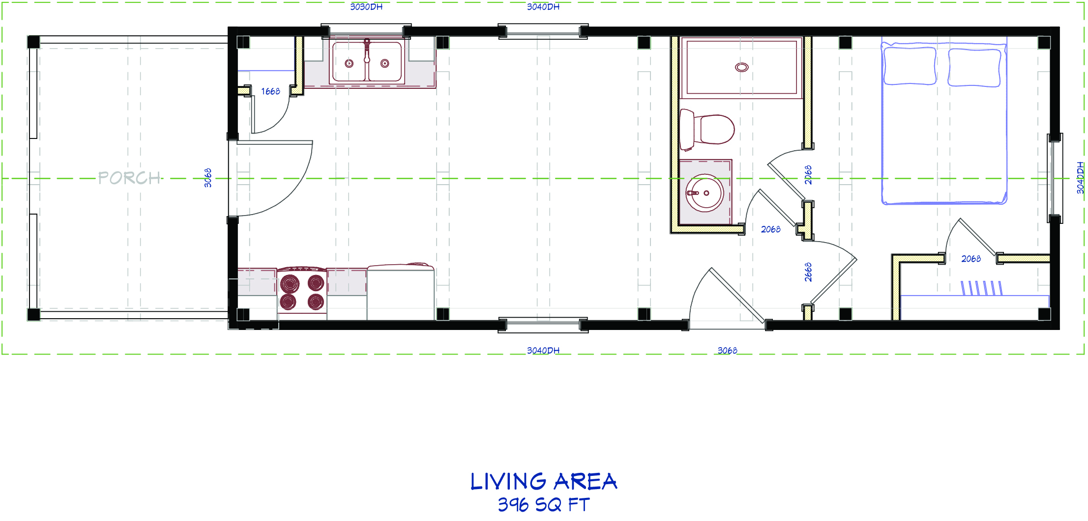 Hearthstone 39 s new tiny home design hearthstone homes for Hearthstone homes floor plans