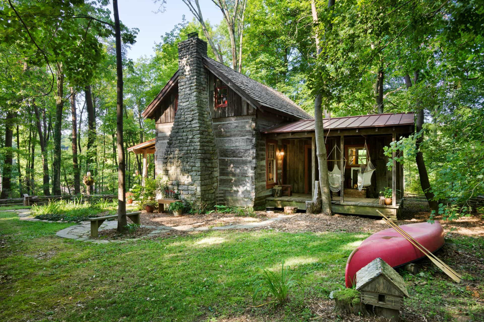 Antique Log Cabins and Barns by Hearthstone Homes
