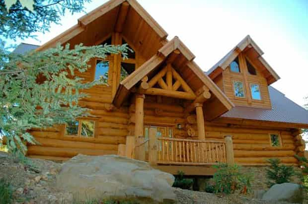 full scribe log home