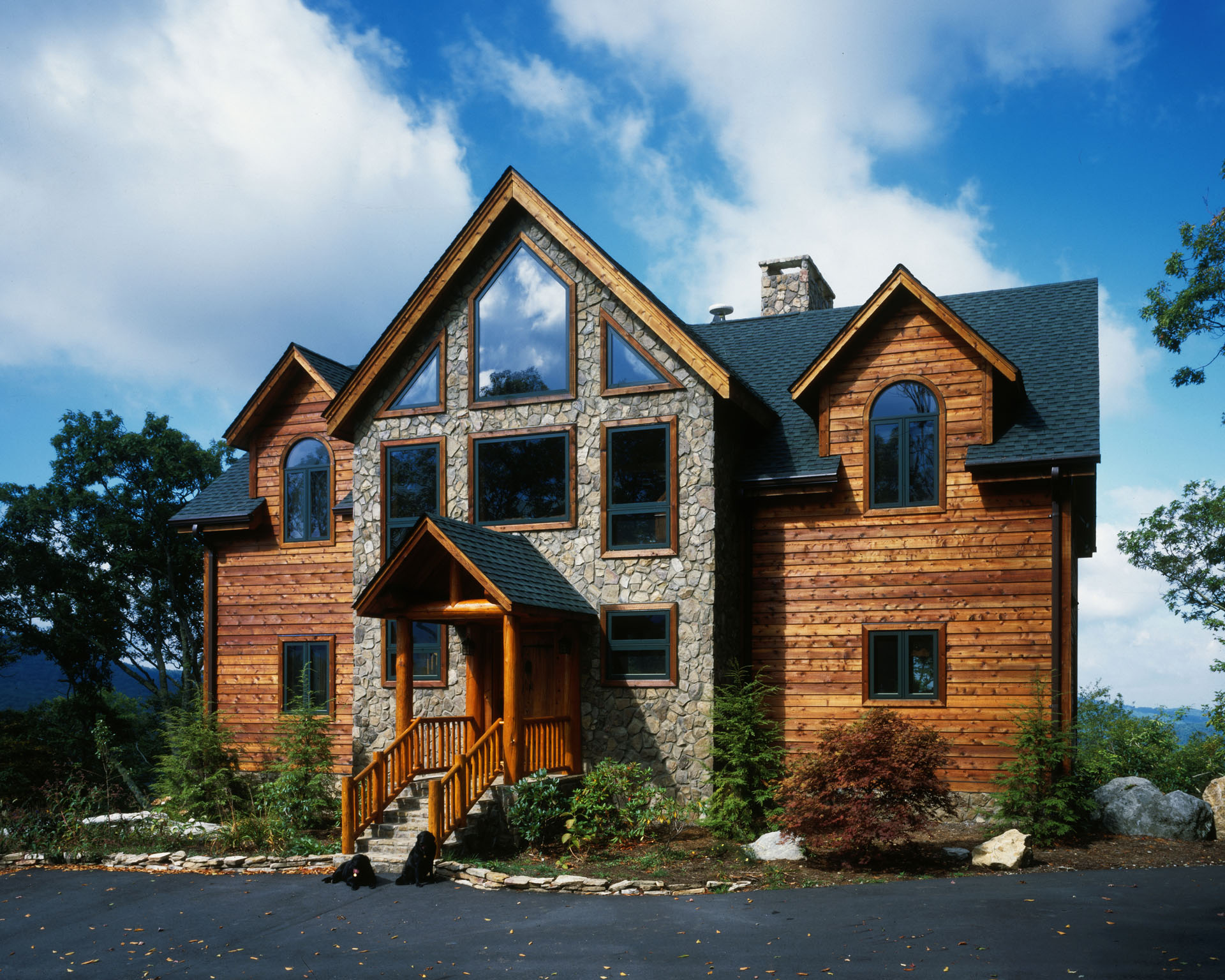Timber Frame Homes by hstone Homes on