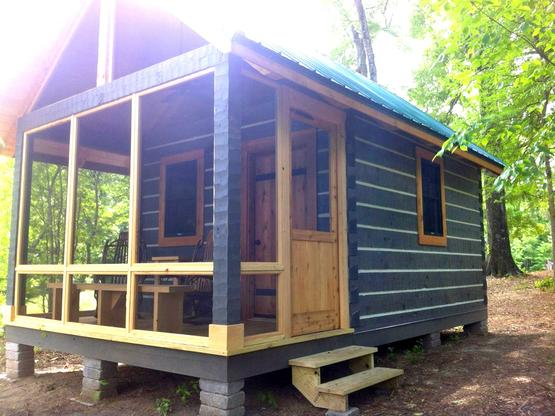Hand hewn log homes cabins hearthstone homes for Log cabin builders in alabama