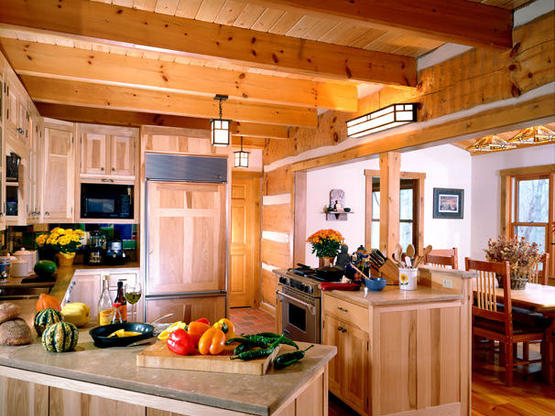 hand hewn log cabin