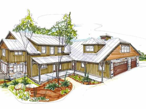 Timber Frame House Plans & Log Home Floor Plans with Pictures