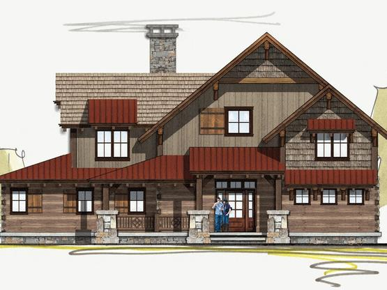 Timber frame house plans log home floor plans with pictures for Moss creek home designs