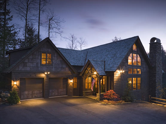 Timber frame homes by hearthstone homes for Timber frame home