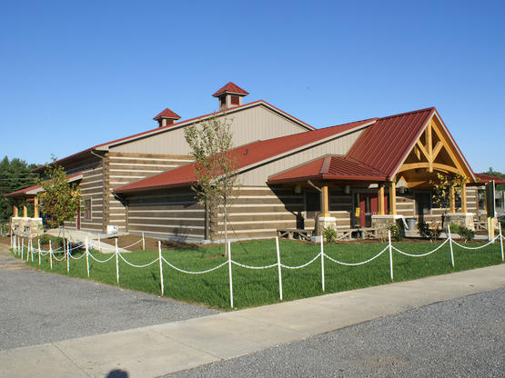custom barns, log homes