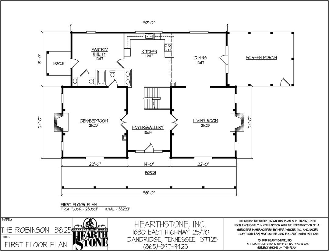 The robinson hearthstone homes for Hearthstone homes floor plans