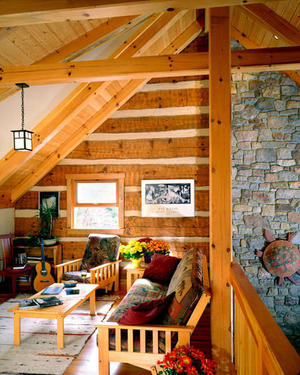 Featured In Log Home Design Ideas Magazine November 2005 Issue