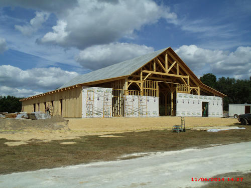 The ocala barn florida hearthstone homes inc for Wood frame house in florida
