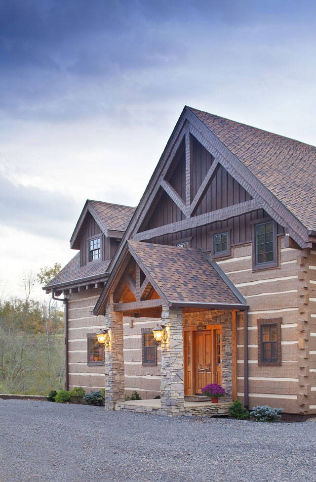 Southland timber components for Gable log homes